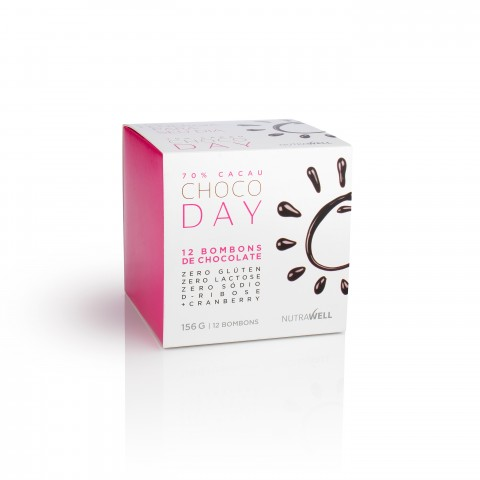 Chocolate Choco day 70% Cacau box 12un - Nutrawell